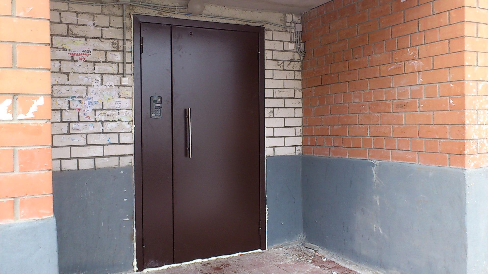 изготовление входных дверей в подъезд в