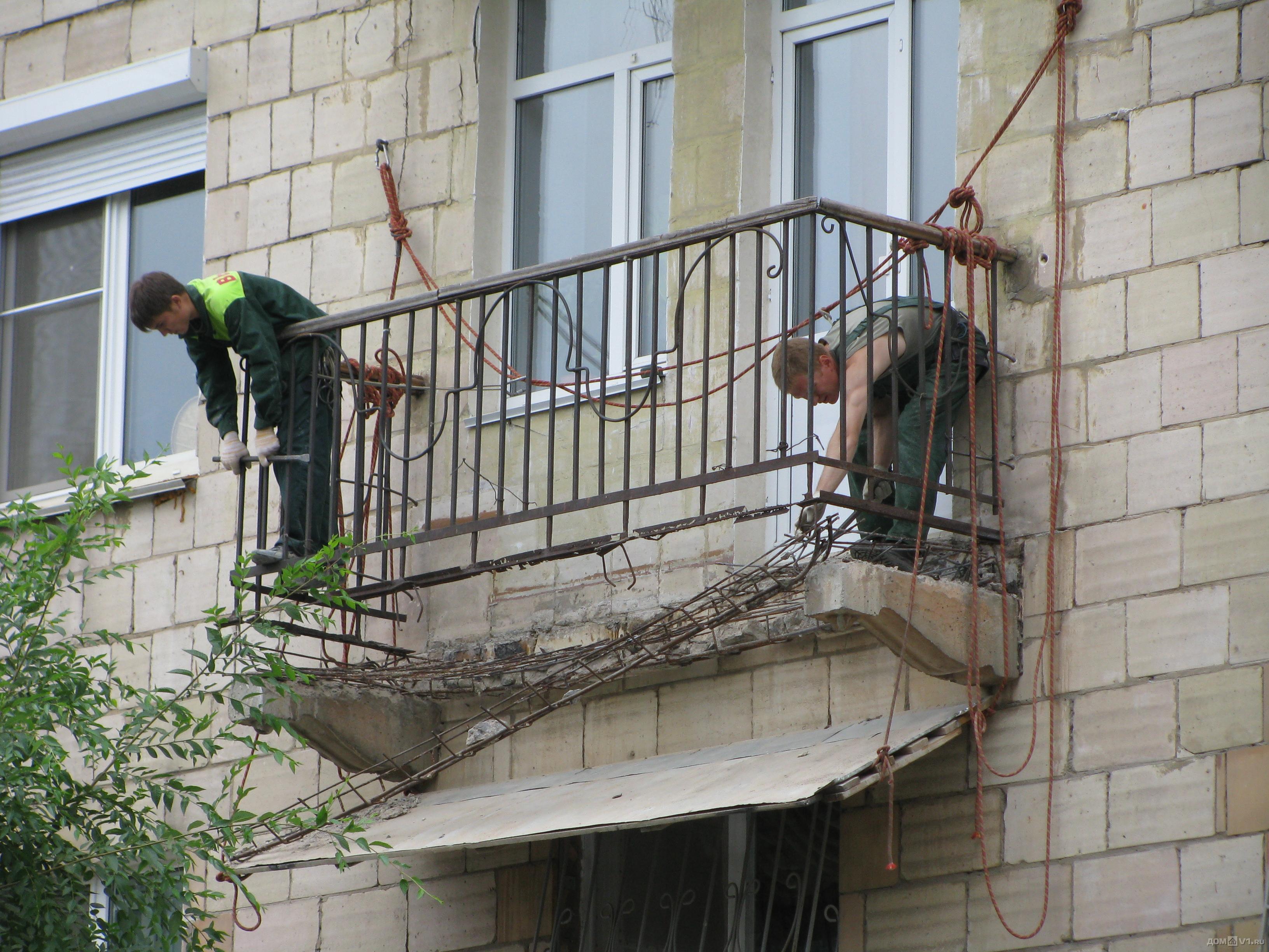 Ремонт балконных плит: укрепление и восстановление плиты.